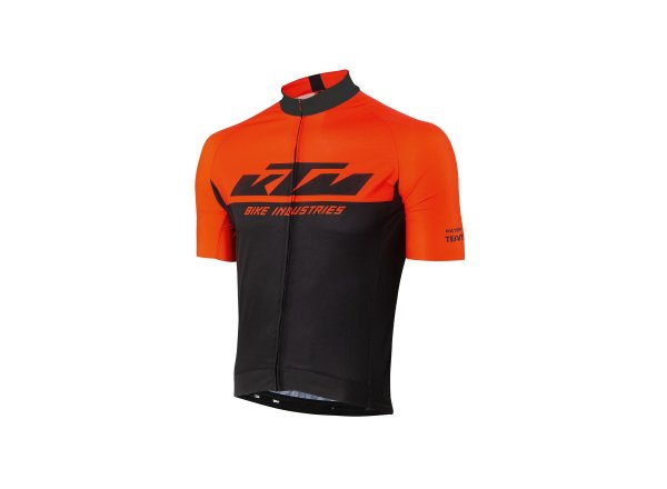 Cyklistický dres KTM Factory Team kr. rukáv 2021 Black/orange