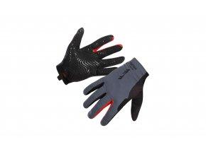 Cyklistické rukavice KTM FACTORY ENDURO Light 2021 Black/grey