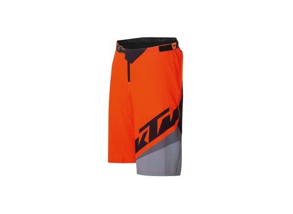 Cyklistické kraťasy KTM FACTORY ENDURO SHORT 2021 Black fire orange grey