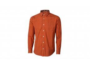 Pánská košile KTM Factory Team Plaid 2021 Orange