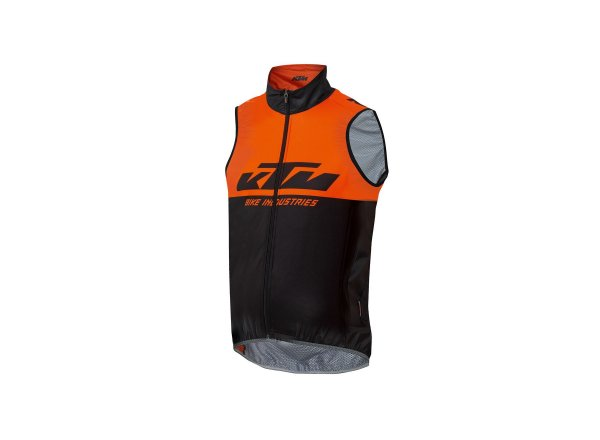 Cyklistická vesta KTM Factory Team 2021 Black/orange
