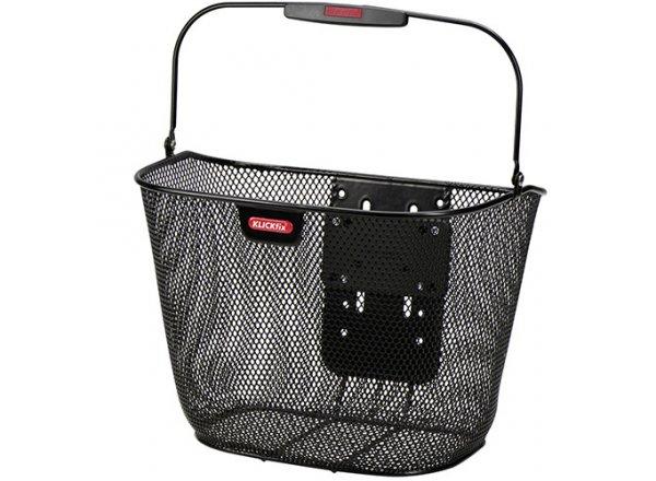 Koš na nosič  KlickFix Basket Uni plus bez držáku Black