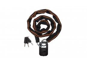 Zámek KTM Pro U-lock Chain Key 2021 Black/orange