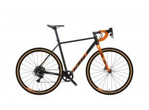 Gravel kolo KTM X-STRADA MASTER 2022 flaming black (orange)