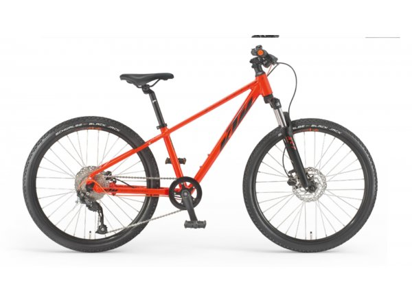 Dětské kolo KTM WILD SPEED DISC 24 2022 fire orange (black)