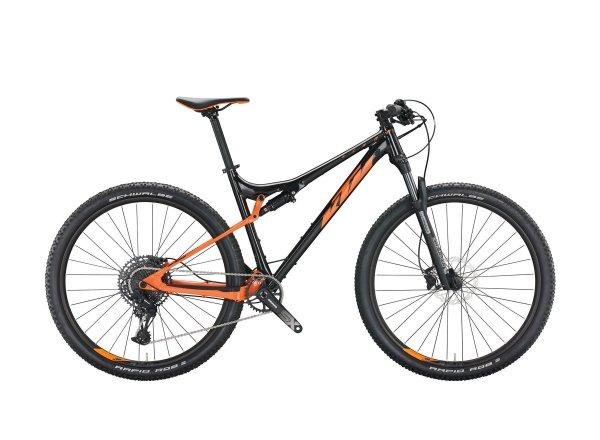 Celoodpružené kolo KTM SCARP 294 29 2022 flaming black (orange)