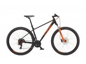 Horské kolo KTM CHICAGO 292 29 2022 black matt (orange)