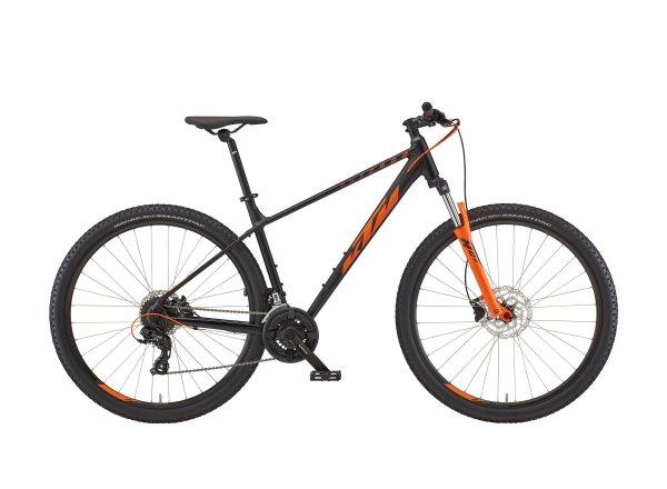 Horské kolo KTM CHICAGO 272 27 2022 black matt (orange)